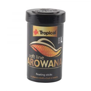 Ração Tropical Soft Line Arowana Sticks Flutuantes 32g