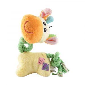 Brinquedo de Pelúcia com Corda Girafinha Savana Pet