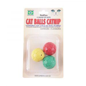 Brinquedo para Gato Cat Balls Catnip 03 Und