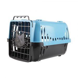 Caixa de Transporte para Gatos Evolution Pet Injet Azul 10191