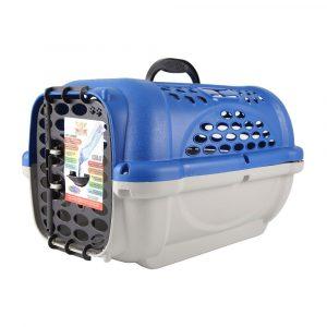 Caixa de Transporte Panther Plast Pet N04 Azul