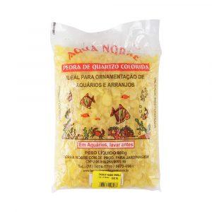 Cascalho de Quartzo Aqua Nobre 950g Amarelo Fluorescente