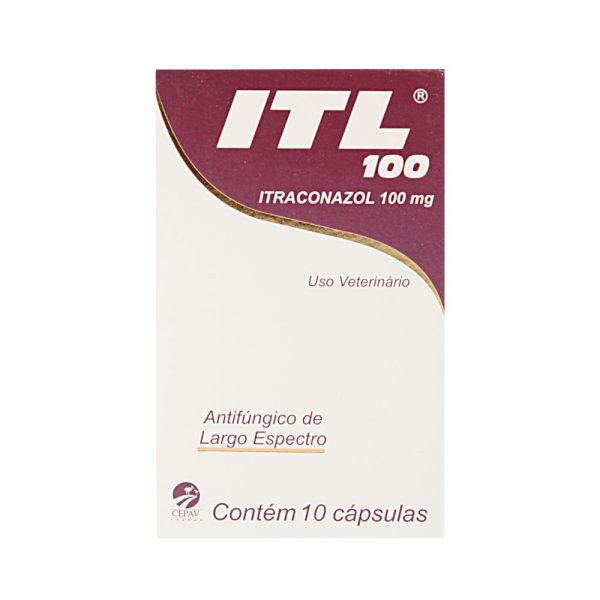 ITL Itraconazol 100mg Com 10 Comprimidos