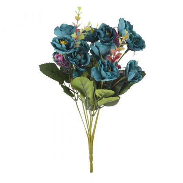 Bouquet Mini Rosa X7 Outonado Azul 32974-001