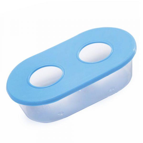 Comedouro Oval Médio 02 Furos 1509 Azul 368350