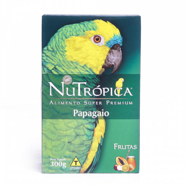 Ração NuTrópica Papagaio Com Frutas 300g