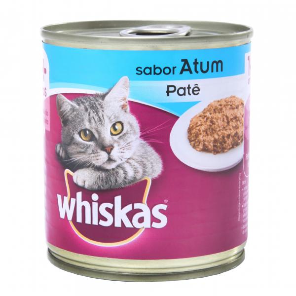 Ração Whiskas para Gatos Sabor Atum Lata 290G