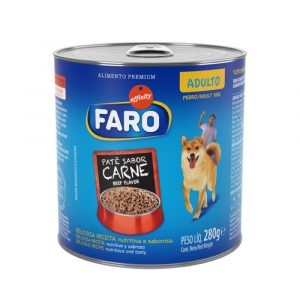 Ração Faro para Cães Adultos Sabor Carne 280g