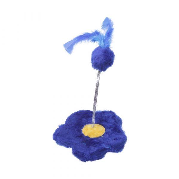 Brinquedo Flor para Gato Azul
