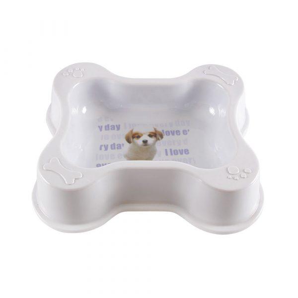 Comedouro de Plástico em forma de Osso Grande SA183257