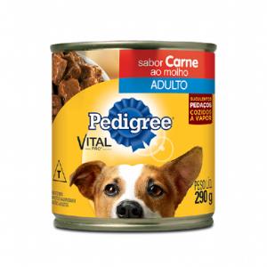 Ração Pedigree para Cães Sabor Carne ao Molho 290g