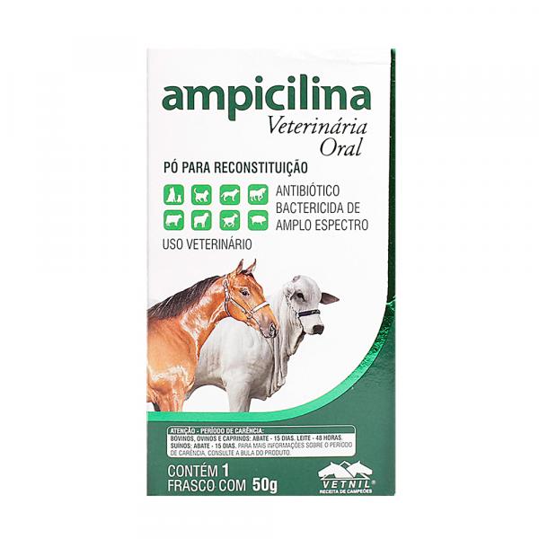 Ampicilina Veterinária Oral - Pó Solúvel 50g