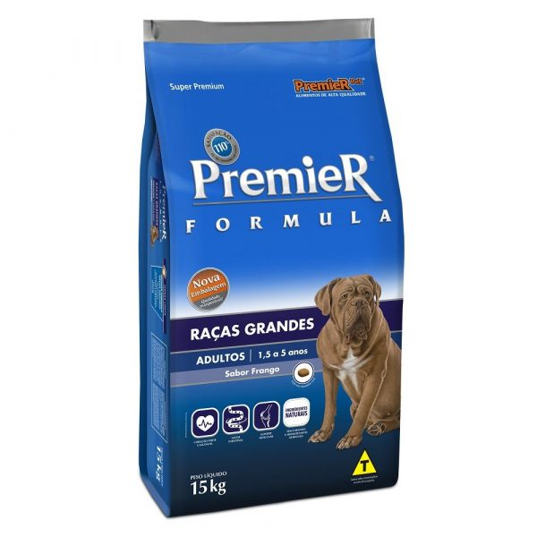 Ração Premier Fórmula Cães Adultos Raças Grandes 15Kg