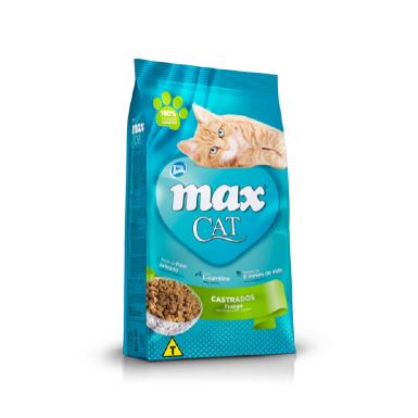 Ração Max Cat para Gatos Castrados Sabor Frango 8Kg