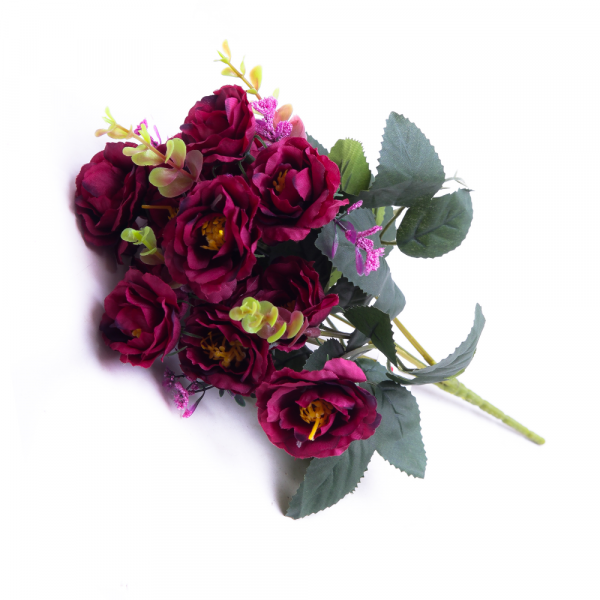 Bouquet Mini Rosa X7 Outonado Burgund 32974-115