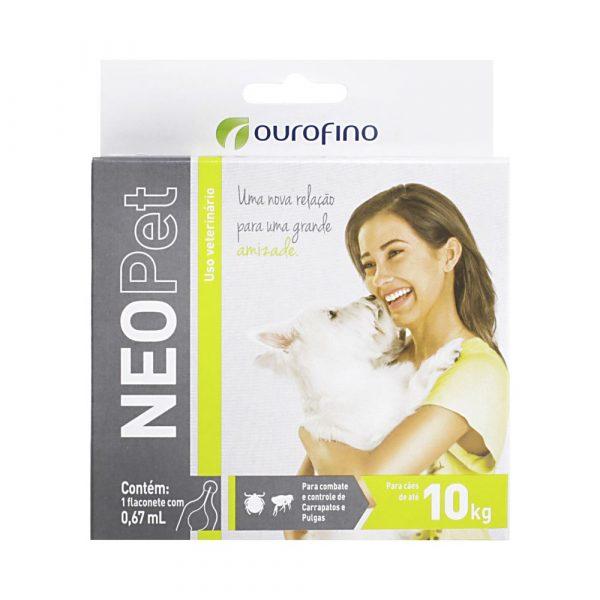 Antipulgas e Carrapatos NeoPet para cães de até 10Kg