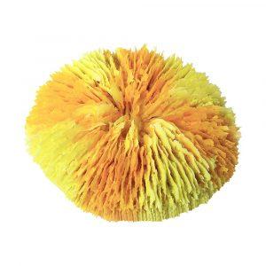 Enfeite Coral Disco Amarelo BR EE-1210YW