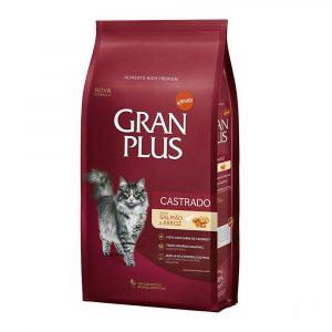 Ração Granplus para Gatos Castrados Salmão e Arroz 3kg