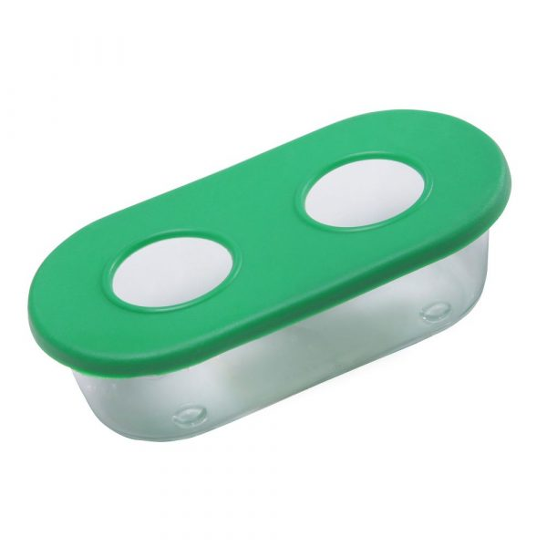 Comedouro Oval Pequeno 02 Furos Verde 384208