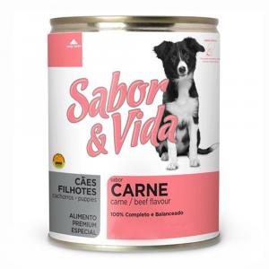 Ração Sabor & Vida para Cães Filhotes Sabor Carne 280g