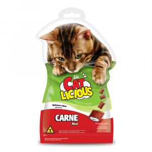 Biscoito Cat Licious para Gatos Adultos Sabor Carne 40g
