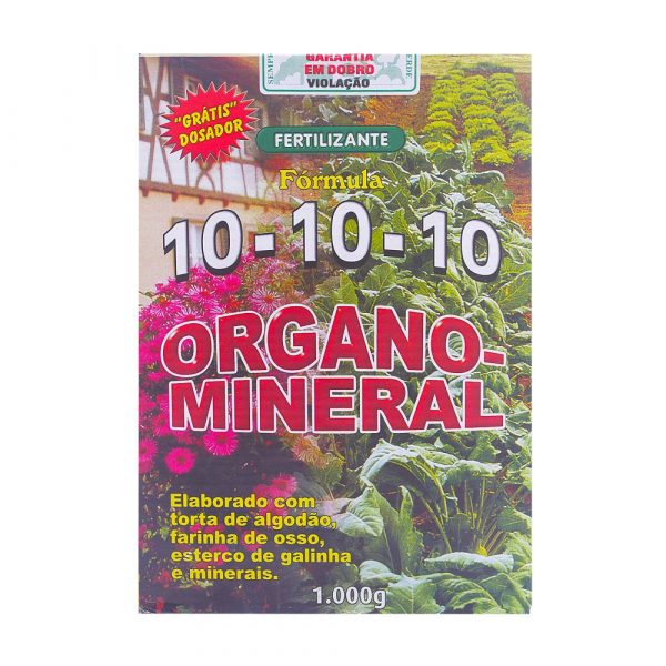 Fertilizante NPK Organo mineral Fórmula 10-10-10 1kg Bonigo
