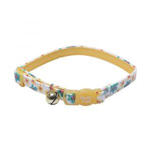 Coleira Coastal Pet para Gato Ajustável Amarelo 3/8