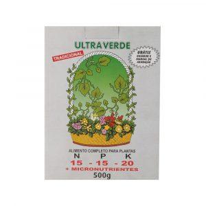 Adubo UltraVerde Tradicional 15-15-20 500g