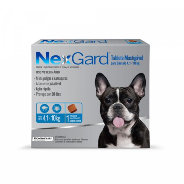 Antipulgas e Carrapatos NexGard 28,3 mg - Cães de 4,1 a 10 Kg
