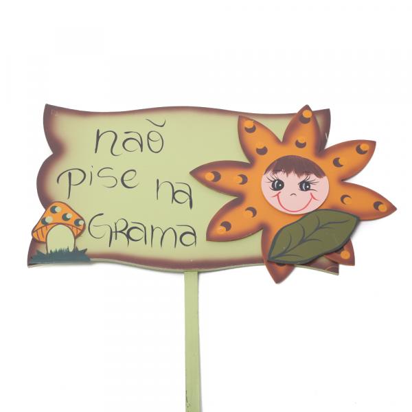Placa Para Jardim Flora Iris 4248