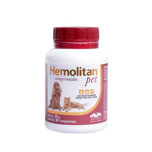 Hemolitan Pet 30g - 30 comprimidos
