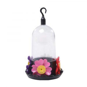 Bebedouro Beija-Flor 4 Flores com Bandeja cor Preto 33685