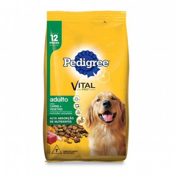 Ração Pedigree para Cães Adultos Sabor Carne e Vegetais 20Kg