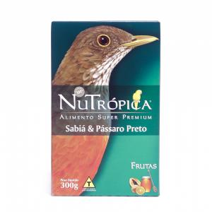 Ração NuTrópica Sabiá e Pássaro Preto Com Frutas 300g