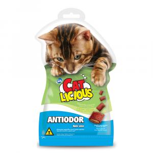 Biscoito Cat Licious Antiodor Para Gatos Adultos 40g