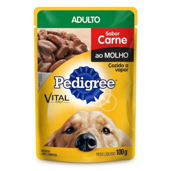 Ração Pedigree Sachê para Cães Adultos Sabor Carne 100g