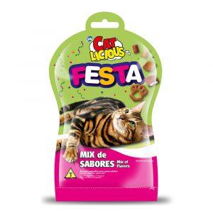 Biscoito Cat Licious Festa Mix de Sabores 40g