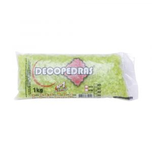 Cascalho Decopedras Verde Limão 1kg