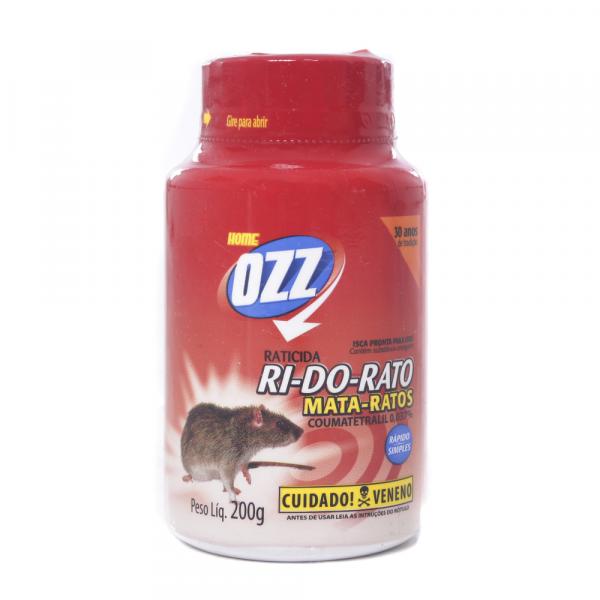Raticida OZZ RI- DO- RATO Farelo 200g