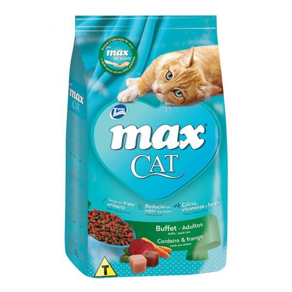 Ração Max Cat Buffet Sabor Cordeiro e Frango 1kg