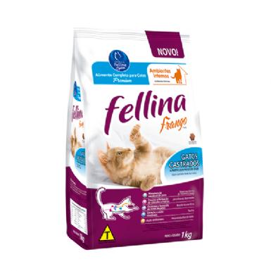 Ração Fellina para Gatos Castrados Sabor Frango1kg