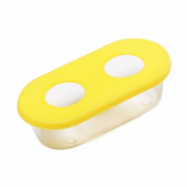 Comedouro Oval Médio 2 Furos 1509 Amarelo 36835