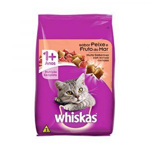 Ração Whiskas para Gatos Sabor Peixes e Frutos do Mar 1kg