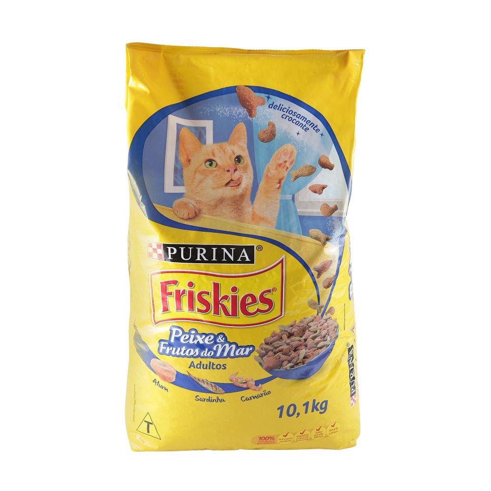 ra??o purina friskies peixes e frutos do mar petiscos do mar sabor atum, sardinha e camar?o 10,1kg