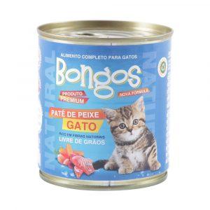 ra??o bongos lata para gatos sabor pat? de peixe 280g