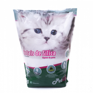 areia sanit?ria pet like cristais de s?lica em gel 28mm 1,8 kg natural