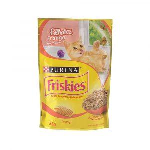 ra??o friskies sach? para gatos filhotes sabor frango ao molho 85g