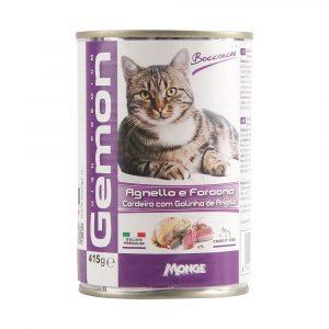 ra??o gemon lata pat? de cordeiro com galinha de angola para gatos 415g