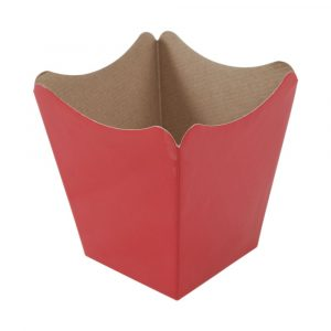 vaso cachepot de papel cris?ntemo vermelho liso