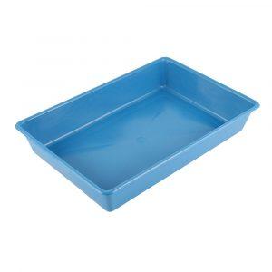 bandeja de areia pollymer azul